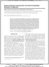 Surface Endotoxin Contamination and Hemocompatibility Evaluation