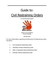 Guide to Civil Restraining Order (pdf) - Superior Court, Riverside