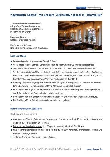 Gasthof mit großem Veranstaltungssaal in Hamminkeln