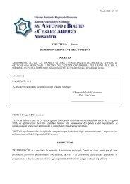 determinazione n° 2 del 04/01/2011 - Azienda Ospedaliera Santi ...