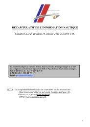 recapitulatif de l information nautique du jeudi 10 janvier 2013