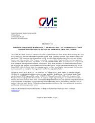 Central European Media Enterprises Ltd. O'Hara House 3 ...