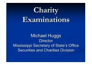 Charity Exams - Mississippi Society of Certified Public Accountants