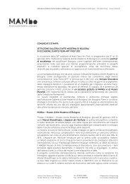 Istituzione Galleria d'Arte Moderna di Bologna per - Mambo