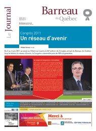 Juillet 2011 - Barreau du Québec