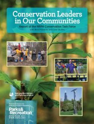 Conservation Leaders in Our Communities - National Recreation ...