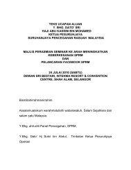 Ucapan Ketua Pesuruhjaya SPRM Sempena Majlis Pelancaran