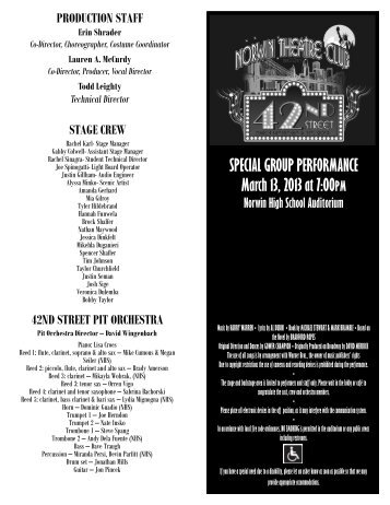 SPECIAL GROUP PERFORMANCE March 13, 2013 at 7:00PM