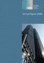 Annual report 2008 - European Banking Authority - Europa
