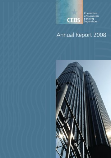 Annual report 2008 - European Banking Authority - Europa