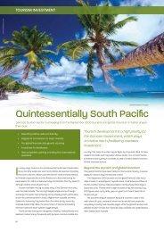 Tourism investment - Business Advantage International