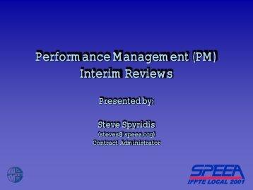 Performance Management (PM) Interim Reviews - speea