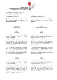 Vom Ausschuss genehmigter Text - Südtiroler Landtag