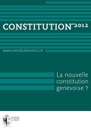 Dépliant de l'Assemblée constituante - Caritas Genève