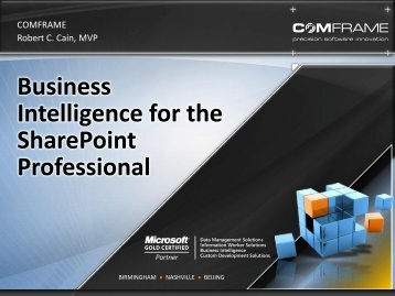 Business Intelligence for the SharePoint Professional - Get a Free Blog
