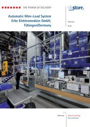 Automatic Mini-Load System Erbe Elektromedizin GmbH ... - viastore