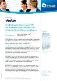 Flexible Druckersteuerung von PDF Dokumenten ... - PDF Tools AG