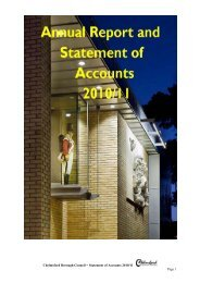 Chelmsford Borough Council – Statement of Accounts 2010/11 Page 1