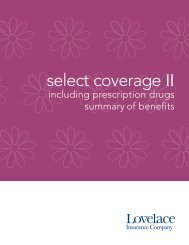 Select Coverage II 2500 wRX - Lovelace Health Plan
