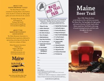 Beer Trail - Maine Brewers' Guild