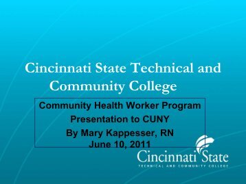 Cincinnati State Technical and Community College - LaGuardia ...