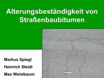 Alterungsbeständigkeit von Straßenbaubitumen - Gestrata