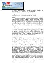 La nature économique de l'éthique médicale : structure ... - EconomiX