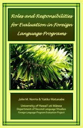 Roles and responsibilities for evaluation in foreign language programs