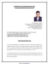 OVERVIEW OF COMPANIES BILL 2012 To download ... - TaxGuru