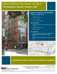 132 Boylston Street Office Space for Lease or Sale - NAI Hunneman