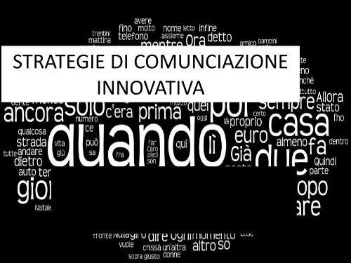 Strategie di comunicazione innovativa