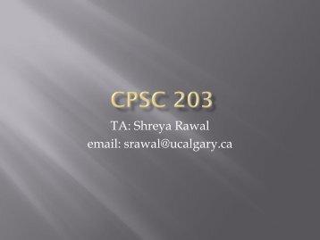 CPSC 203 - University of Calgary Wiki