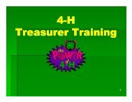4 H - Treasurer Training - Monterey County
