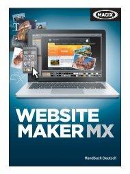 Aufbau von MAGIX Website Maker MX - MAGIX Online Welt