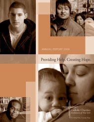 Providing Help. Creating Hope. - Catholic Charities of the ...