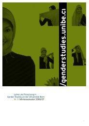 Nr. 9, HS 2006, Gender und Islam (pdf, 3.5 MB) - Interdisziplinäres ...