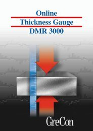 Online Thickness Gauge DMR 3000