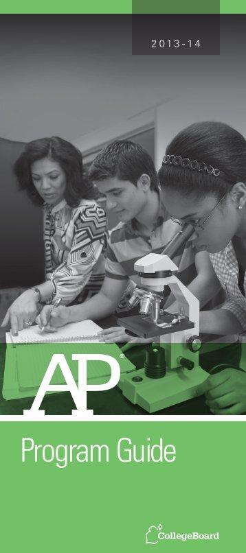 AP Program Guide 2012-13 - College Board