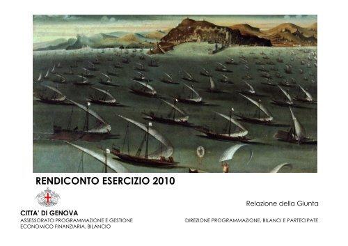 RENDICONTO ESERCIZIO 2010 - Comune di Genova