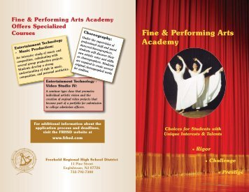 Academy - FPAC.qxd - Freehold Regional High School District