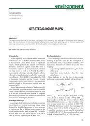 STRATEGIC NOISE MAPS - Structure and Environment - Kielce