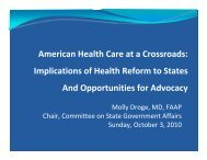 American Health Care at a Crossroads - American Academy of ...