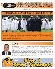 CONGRATULATIONS CLASS OF 2011! - Lucas Local Schools