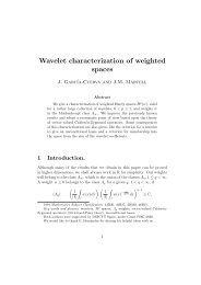 Wavelet characterization of weighted spaces - ICMAT