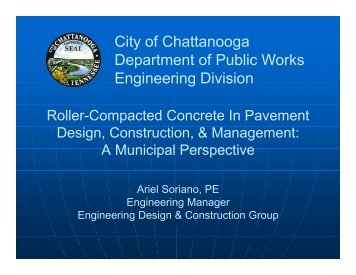 City of Chattanooga Department of Public Works Engineering Division