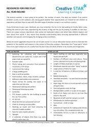 Play sector Resource ideas - Fraser Web Design