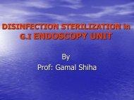 DISINFECTION STERILIZATION in G.I ENDOSCOPY UNIT