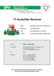 It-Ausbilder-Seminar It-Ausbilder-Seminar - Epv-Verlag