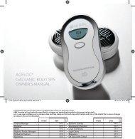 ageLOC Body Spa Manual - Nu Skin