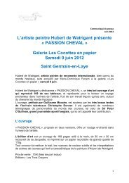 L'artiste peintre Hubert de Watrigant présente - Saint Germain-en-Laye